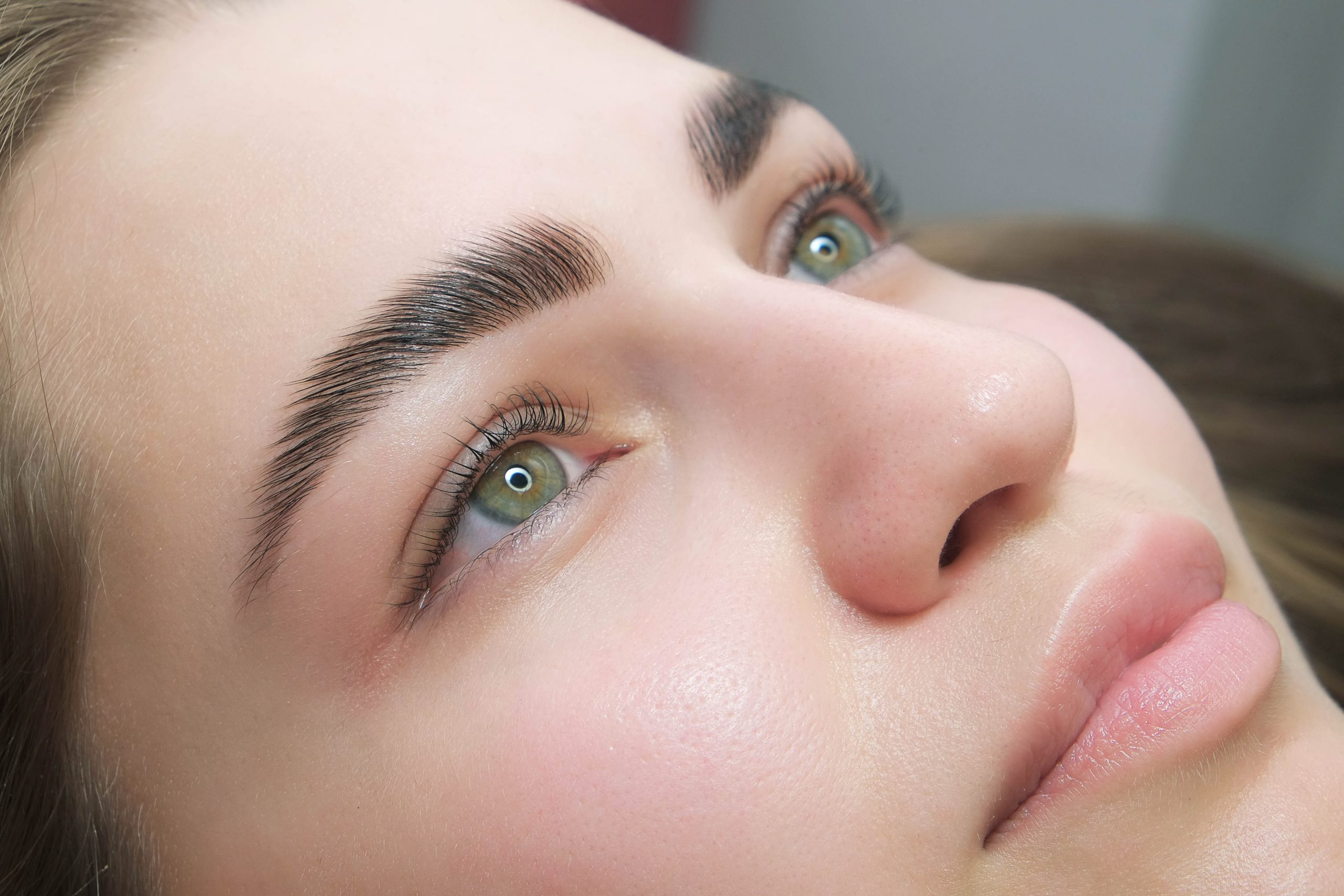 Sable,Style,Eyebrows,Concept.,Close,Up,Portrait,Of,Young,Sensual